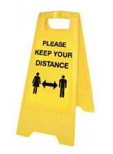 Keep your Distance Yellow A-Frame - 1m / 2m / Generic Distance Options