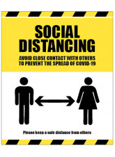 Social Distancing - Avoid Contact - 1m / 2m / Generic Distance Options