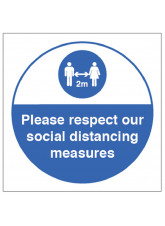 Respect Social Distancing Sticker - 1m / 2m / Generic Distance Options