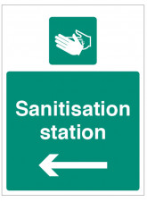 Sanitisation Station - Arrow Left